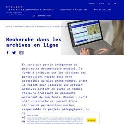 Recherche dans les archives en ligne - Arolsen Archives