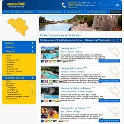 Recherche avancée en Ardennes – Réservez en ligne chez Vacansoleil