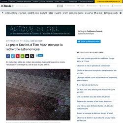 Le projet Starlink d'Elon Musk menace la recherche astronomique – Autour du Ciel