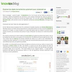 Explorer les objets de recherche autrement avec vocabulari.se