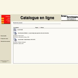 Jacob Holdt - Catalogue en ligne