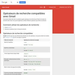 Utilisation de la recherche avancée - Centre d'aide Gmail