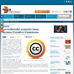 La recherche avancée sous licence Creative Commons