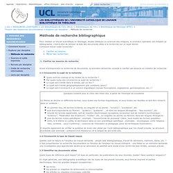 Méthode de recherche bibliographique