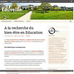 A la recherche du bien-être en Education