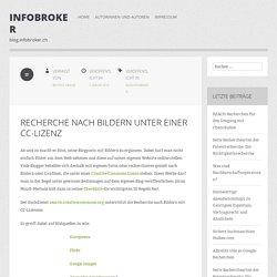 Recherche nach Bildern unter einer CC-Lizenz