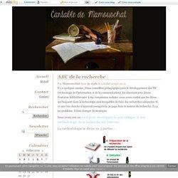 ABC de la recherche - Cartable de Mamouschat