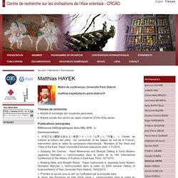 Centre de recherche sur les civilisations de l'Asie orientale - CRCAO - Matthias HAYEK