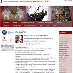 Centre de recherche sur les civilisations de l'Asie orientale - CRCAO - Paul JOBIN