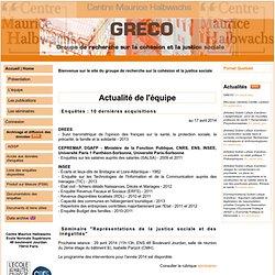 GRECO : Groupe de REcherche sur la COhésion et la justice sociale