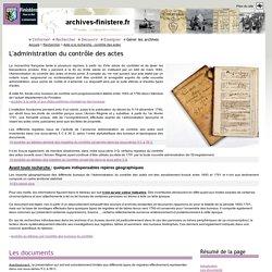 Aide à la recherche - contrôle des actes (page d'accueil)