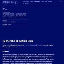 Recherche et culture libre