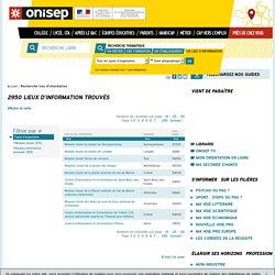 ONISEP - Recherche de lieux d'information