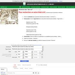 Recherche : Etat civil - Archives départementales de l...