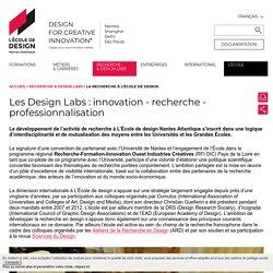 La recherche à L'École de design - L'École de design Nantes Atlantique