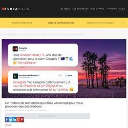 Un moteur de recherche qui utilise vos emojis pour vous proposer des destinations