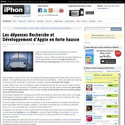 Les dépenses Recherche et Développement d'Apple en forte hausse - iPhone 5s, 5c