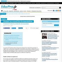 Comment évaluer la recherche documentaire - Enquête sur Educpros