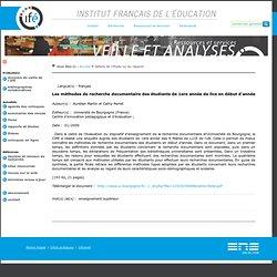 méthodes recherche doc étudiants 1A