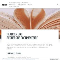 Réaliser une recherche documentaire – M'SIEUR