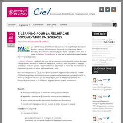 E-learning pour la recherche documentaire en Sciences « CIEL