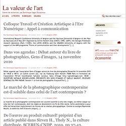 Carnet de recherche, par Dominique Sagot-Duvauroux