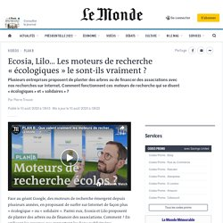 Ecosia, Lilo… Les moteurs de recherche «écologiques» le sont-ils vraiment?