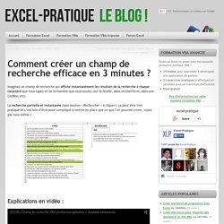 [Excel] Créer un champ de recherche efficace en 3 minutes