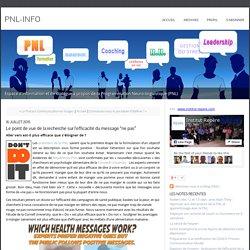 """L'efficacité du message """"ne pas"""" - PNL"""