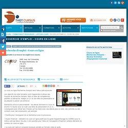 Recherche d'emploi - Cours en ligne