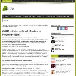 Clé USB, mail et recherche web : Une étude sur l'empreinte carbone !