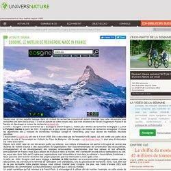 Ecogine, le moteur de recherche Made in France