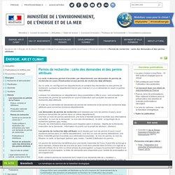 Permis de recherche : carte des demandes et des permis attribués