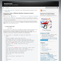Intégrer un module de recherche E-sidoc / PMB dans Netvibes, Facebook, le site de l'établissement…