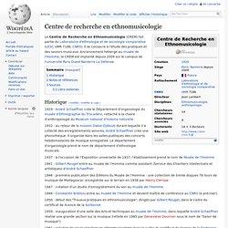Centre de Recherche en Ethnomusicologie