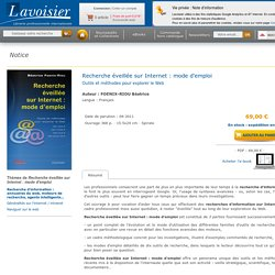 Recherche éveillée sur Internet : mode d'emploi FOENIX-RIOU Béatrice