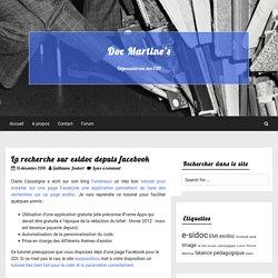 La recherche sur esidoc depuis facebook — Doc Martine's