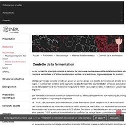 Unité mixte de recherche Sciences pour l' - Contrôle de la fermentation