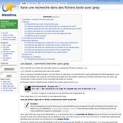 Faire une recherche dans des fichiers texte avec grep