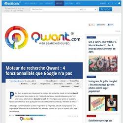 Qwant: 4 fonctionnalités que n'a pas Google
