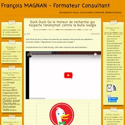 Duck Duck Go le moteur de recherche qui respecte l'anonymat, contre la bulle Google