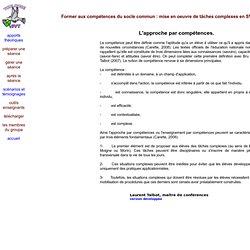 Recherche formation - socle commun
