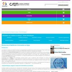 Recherche et fiabilité de l'information en ligne