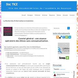 La Recherche d'information en évolution – DocTICE