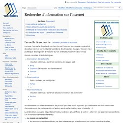 Recherche d'information sur l'internet
