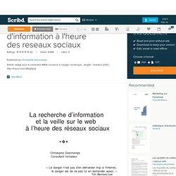 Veille et recherche d'information à l'heure des reseaux sociaux
