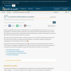 La recherche d'informations sur internet