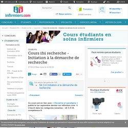 Cours ifsi recherche - Initiation à la démarche de recherche