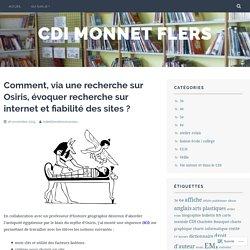 Comment, via une recherche sur Osiris, évoquer recherche sur internet et fiabilité des sites ? – cdi monnet flers