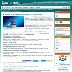 Jeunes et recherche d'emploi sur Internet : 3 fiches pratiques